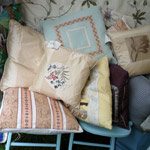 Cushions for sale at the Craft Fair